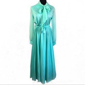 Gorgeous vintage 70's mint maxi dress